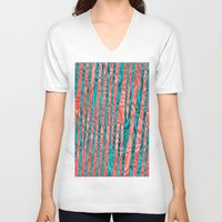 community V-neck T-shirts featuring Gated Community by RingWaveArt