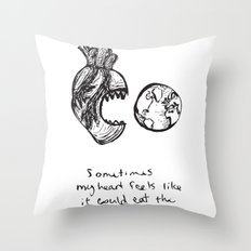 for the heart-hungry Throw Pillow