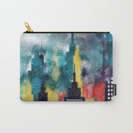 New York City Skyscrapers In Watercolor Art, Travel Digital Download, New York Poster, Wall Art Home Carry-All Pouch