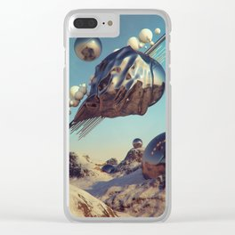 MAGNETIC HIDE AND SEEK Clear iPhone Case