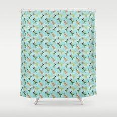 Coney Island Mermaid Parade Pattern Shower Curtain