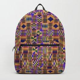 Kente Cloth // Anzac Yellow & Persian Blue Backpack