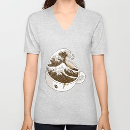 The Great Wave off Coffee Unisex V-Neck