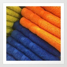 Towels. Fashion Textures Art Print