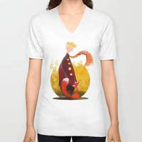 le petit prince V-neck T-shirts featuring Le Petit Prince by Federica Fabbian