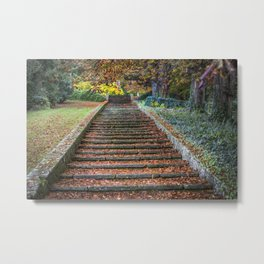 Autumnal Stairs Metal Print