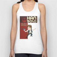 han solo Tank Tops featuring Han Solo by Alex Santaló