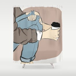 Fashion Latte To Go Shower Curtain