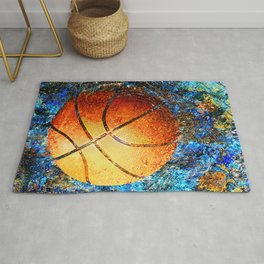 Basketball art print swoosh 113 - basketball poster Rug
