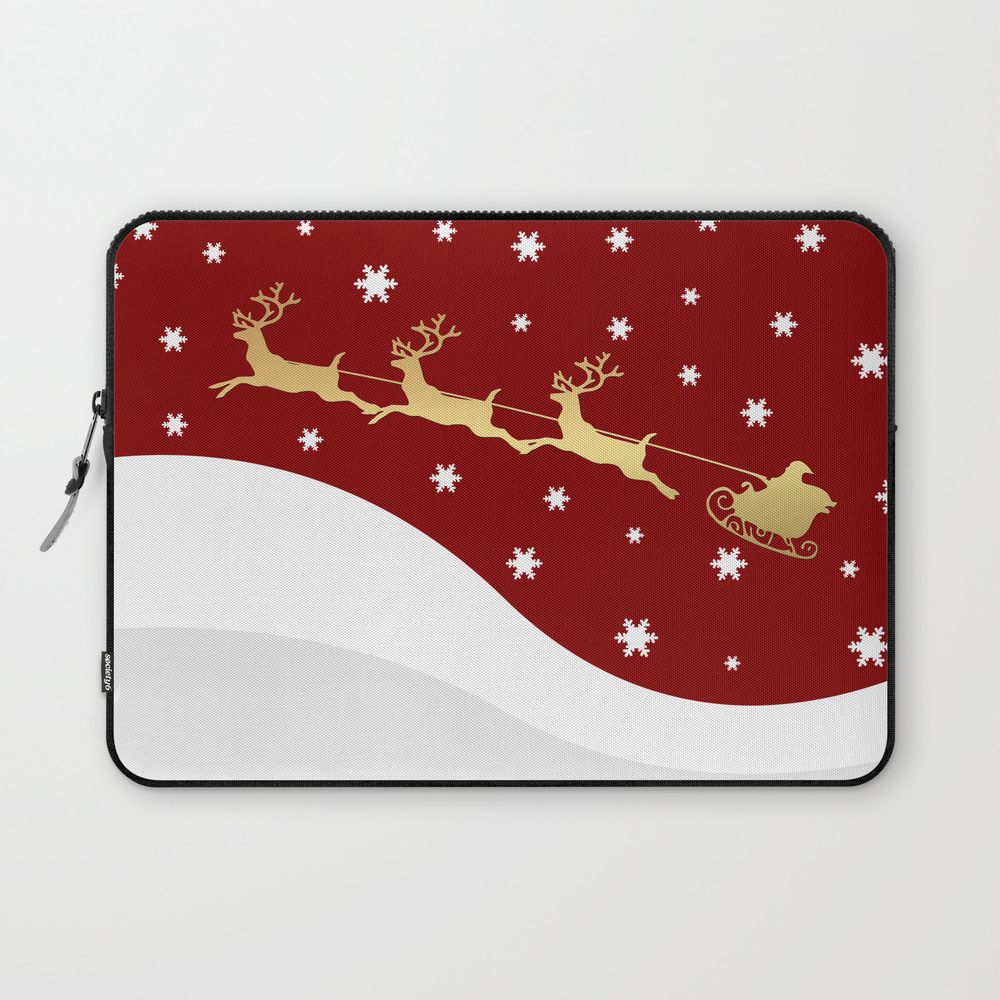 Red Christmas Santa Claus Laptop Sleeve LSV7992846