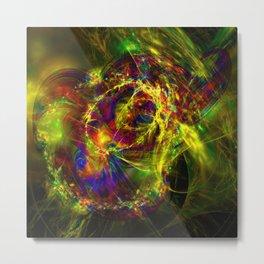 Exploding Universe fractal Metal Print
