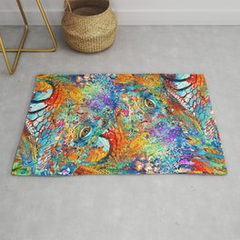 Colorful Iguana Art - Tropical Two - Sharon Cummings Rug