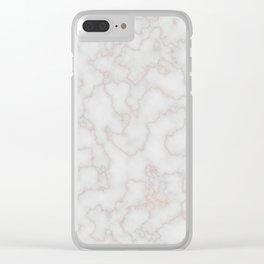 Marble Rosegold Texure Clear iPhone Case