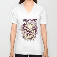 nightmare V-neck T-shirts featuring Nightmare by Tshirt-Factory