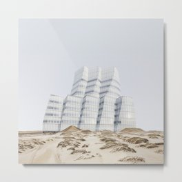 Misplaced Series - IAC Building Metal Print