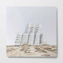 Misplaced Series - IAC Building Metal Print