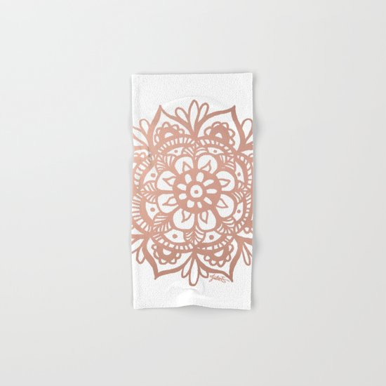 Rose Gold Mandala Hand & Bath Towel