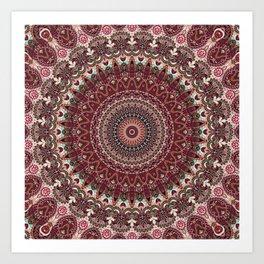 Mediterranean Boho Kaleidoscope Art Print