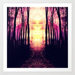 Path to Imagination : Mauve Pink Purple Art Print