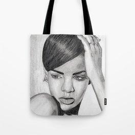 Rihanna Pencil Sketch Tote Bag