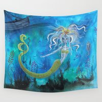 tangled Wall Tapestries featuring Tangled by bludawg designs