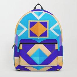 Geometric Tribal Mandala Inspired Modern Trendy Vibrant (Blue, Cobalt, Yellow, Orange, Purple) Backpack