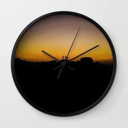 Mountain Top Sunset Wall Clock