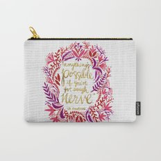 Anything's Possible – Gold & Red Carry-All Pouch
