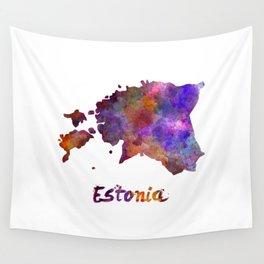 Estonia in watercolor Wall Tapestry