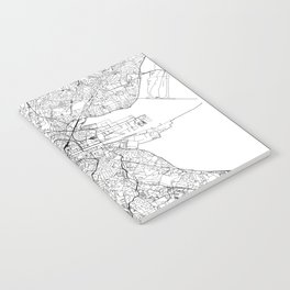 Dublin White Map Notebook