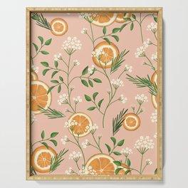 Elderflower & Oranges - Pastel Serving Tray