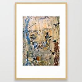 """Modena"" 16 x 20 acrylic, balsamic vinegar on canvas Framed Art Print"