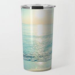 tropical turquoise Travel Mug