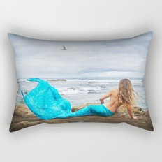 Blue Mermaid Rectangular Pillow