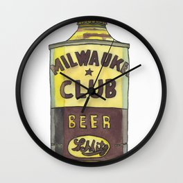Vintage Beer 1 Wall Clock