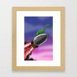 Part 1: Rocket Brontosorus Framed Art Print