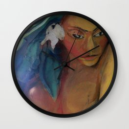 Lady of the sea Wall Clock
