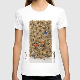 little world puppets at climbing wall T-shirt