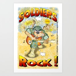 Soldiers Rock Art Print