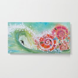 Surf Wave Somewhere in Narnia Metal Print