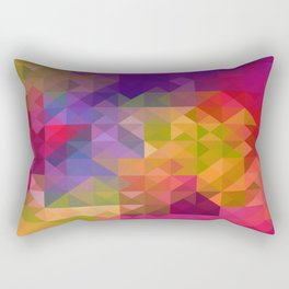 Bright Colorful Geometric Abstract Rectangular Pillow