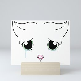 Sad Cat Mini Art Print