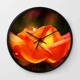 Red Rose Glowing Wall Clock