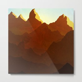 Red Mountain Sunrise Metal Print