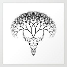Bull Tree Art Print