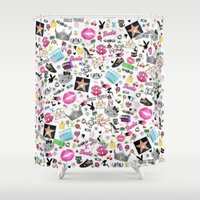 hollywood Shower Curtains featuring Hollywood by LuxuryLivingNYC