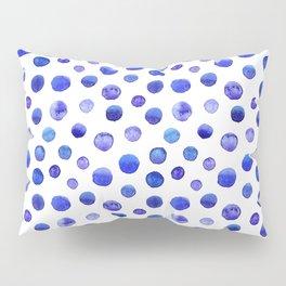 Blue polka dot watercolor pattern Pillow Sham