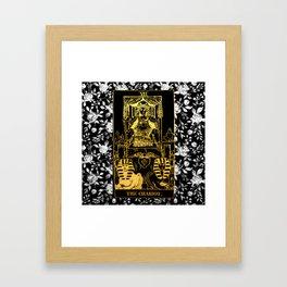 A Floral Tarot Print - The Chariot Framed Art Print