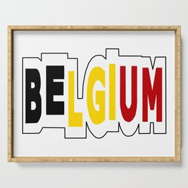 Belgium Font #1 with Belgian Flag Serving Tray