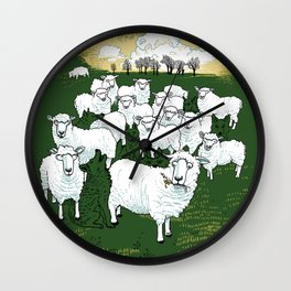 Hide & Sheep Wall Clock